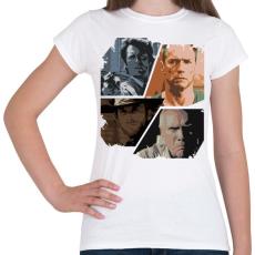 PRINTFASHION Best of Clint Eastwood - Női póló - Fehér