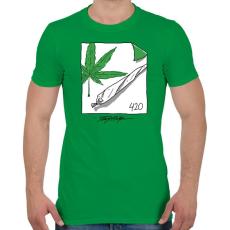 PRINTFASHION Beszívva - Férfi póló - Zöld