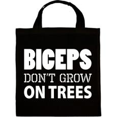 PRINTFASHION Bicepsz nem a fán terem - Vászontáska - Fekete