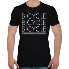 PRINTFASHION Bicikli - Férfi póló - Fekete