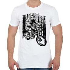 PRINTFASHION Biciklis gyilkos - Férfi póló - Fehér