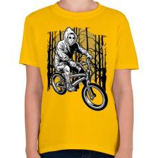 PRINTFASHION Biciklis gyilkos - Gyerek póló - Sárga