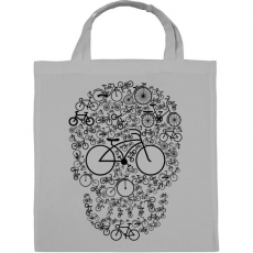 PRINTFASHION Biciklis koponya - Vászontáska - Szürke