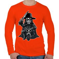 PRINTFASHION Biciklis Vendetta - Férfi hosszú ujjú póló - Narancs