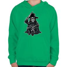 PRINTFASHION Biciklis Vendetta - Gyerek kapucnis pulóver - Zöld