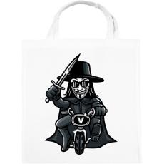 PRINTFASHION Biciklis Vendetta - Vászontáska - Fehér