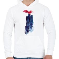 PRINTFASHION Big beast - Férfi kapucnis pulóver - Fehér