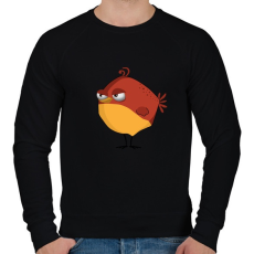 PRINTFASHION Bird - Férfi pulóver - Fekete
