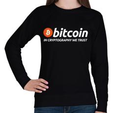 PRINTFASHION Bitcoin - Női pulóver - Fekete