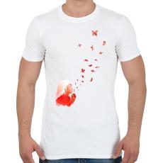 PRINTFASHION Blowing butterflies - Férfi póló - Fehér