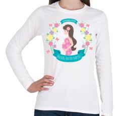 PRINTFASHION Boldog anyák napját - Női hosszú ujjú póló - Fehér