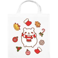 PRINTFASHION Boldog jegesmedve karácsonya - Vászontáska - Fehér