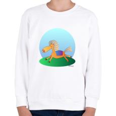 PRINTFASHION Boldog paci - Gyerek pulóver - Fehér