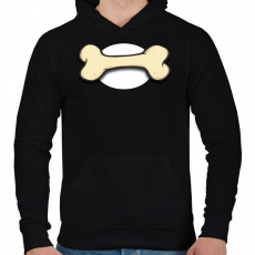 PRINTFASHION Bone - Férfi kapucnis pulóver - Fekete