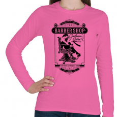 PRINTFASHION Borbély - Női hosszú ujjú póló - Rózsaszín
