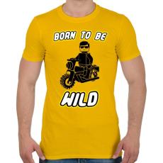 PRINTFASHION born-to-be-wild-black - Férfi póló - Sárga