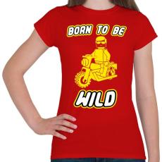 PRINTFASHION born-to-be-wild-yellow - Női póló - Piros