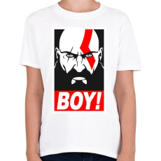 PRINTFASHION Boy - Gyerek póló - Fehér