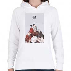 PRINTFASHION BTS Love Yourself Tear - Női kapucnis pulóver - Fehér