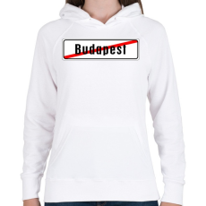 PRINTFASHION budapest-vege - Női kapucnis pulóver - Fehér