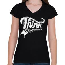 PRINTFASHION Buja gondolatok - Női V-nyakú póló - Fekete