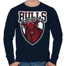 PRINTFASHION Bulls - Férfi pulóver - Sötétkék