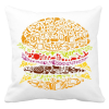 PRINTFASHION Burger - Párnahuzat, Díszpárnahuzat - Fehér
