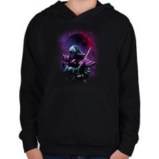 PRINTFASHION Busidó - Gyerek kapucnis pulóver - Fekete