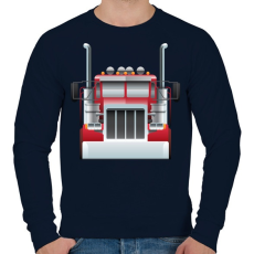 PRINTFASHION Camion - Férfi pulóver - Sötétkék