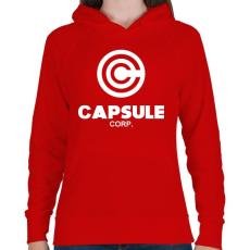 PRINTFASHION Capsule Corp - Női kapucnis pulóver - Piros