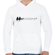 PRINTFASHION CATostrophe - Férfi kapucnis pulóver - Fehér