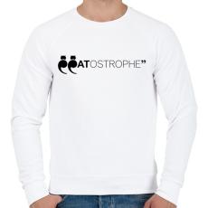 PRINTFASHION CATostrophe - Férfi pulóver - Fehér