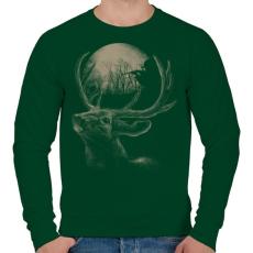 PRINTFASHION Célkereszt - Férfi pulóver - Sötétzöld