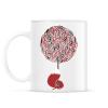 PRINTFASHION Cherry tree - Bögre - Fehér