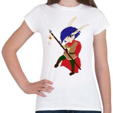 PRINTFASHION Chibi Elf lányka  - Női póló - Fehér