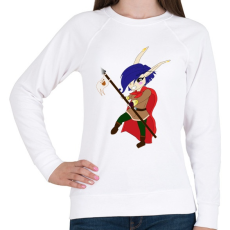 PRINTFASHION Chibi Elf lányka  - Női pulóver - Fehér