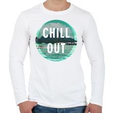 PRINTFASHION Chill Out - Férfi hosszú ujjú póló - Fehér