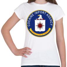 PRINTFASHION CIA cocain import agency - Női póló - Fehér