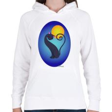 PRINTFASHION Cicszerelem - Női kapucnis pulóver - Fehér