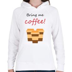 PRINTFASHION coffee - Női kapucnis pulóver - Fehér
