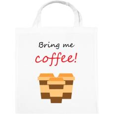 PRINTFASHION coffee - Vászontáska - Fehér