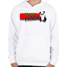 PRINTFASHION Color panda android game - Gyerek kapucnis pulóver - Fehér