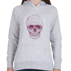 PRINTFASHION Cool skull - Női kapucnis pulóver - Sport szürke