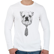 PRINTFASHION Cooldog - Férfi hosszú ujjú póló - Fehér