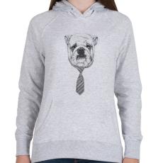PRINTFASHION Cooldog - Női kapucnis pulóver - Sport szürke