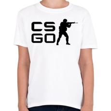 PRINTFASHION CS:GO - Gyerek póló - Fehér