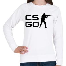 PRINTFASHION CS:GO - Női pulóver - Fehér