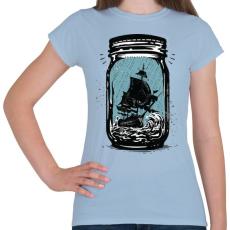 PRINTFASHION Csapdában - Női póló - Világoskék