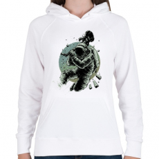 PRINTFASHION Csendet!  - Női kapucnis pulóver - Fehér