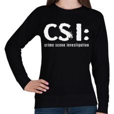 PRINTFASHION csi-1-1-white - Női pulóver - Fekete